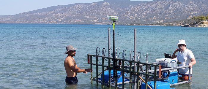 Measuring in the sea